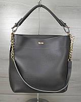 """Женская сумочка """"Цепочка"""". Серый цвет"""