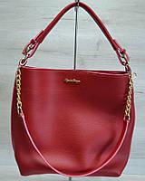 """Женская сумочка """"Цепочка"""". Бордовый цвет"""