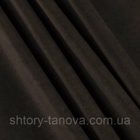 Велюр тёмно-коричневый
