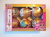 Куклы Лол LOL GOLD, золотой шар, набор из 6 штук
