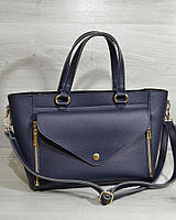 Женская сумка - клатч 2 в 1. Синий цвет