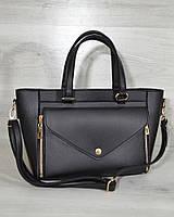 Женская сумка - клатч 2 в 1. Клатч черного цвета
