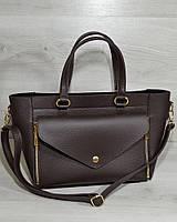 Женская сумка - клатч 2 в 1. Шоколадный цвет