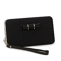 Женский кошелек BAELLERRY Pidanlu Style кожаное портмоне на кнопке Черный (SUN0991)