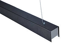 """Светодиодная балка LED """"MEGANE-1200+"""" Upper 44W 4400L (6000K) L-120см IP20 черная, фото 1"""