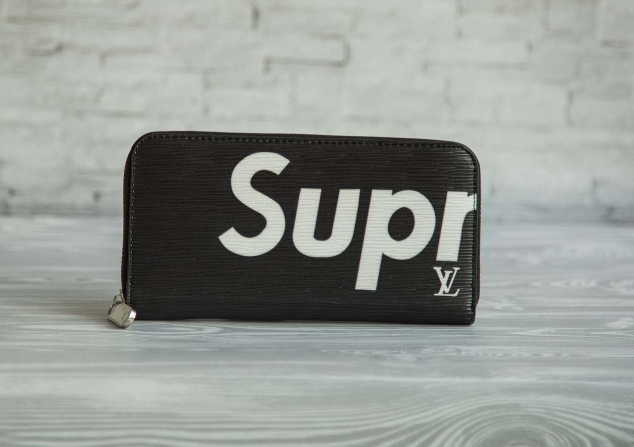 8448a1d9e5239 Мужской портмоне кошелек сюпрем Supreme луи витон Louis Vuitton черный