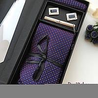 """Стильный Мужской подарочный набор """"Лорд"""": галстук, костюмный платок, запонки, зажим. Roberto Gabbani., фото 1"""