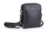 Кожаная мужская сумка  Jinbailil чёрная, фото 1