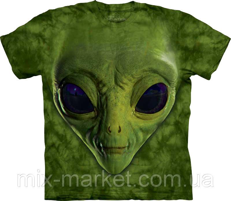 Футболка The Mountain - Green Alien Face - 2013
