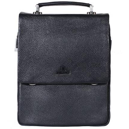 a05a5a208de2 Мужская кожаная сумка формата А4 Lare Boss 4704-8 черная купить в ...