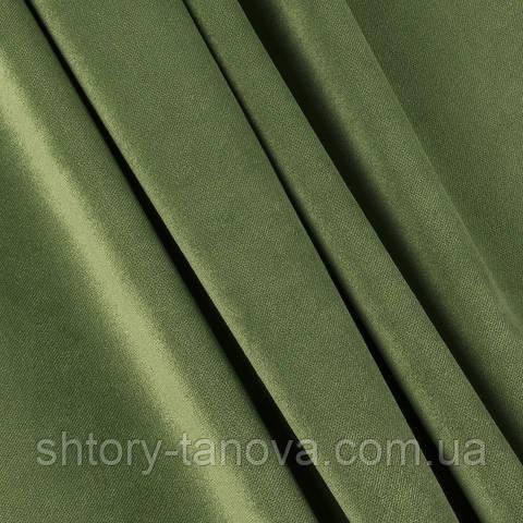 Велюр зелёная оливка