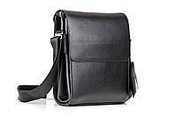 Кожаная мужская сумка GORANGD HOSTER чёрная, фото 1