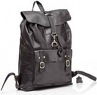 Рюкзак кожаный TIDING BAG G8894A Серый