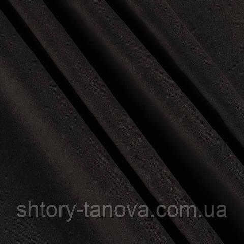 Велюр чёрный шоколад