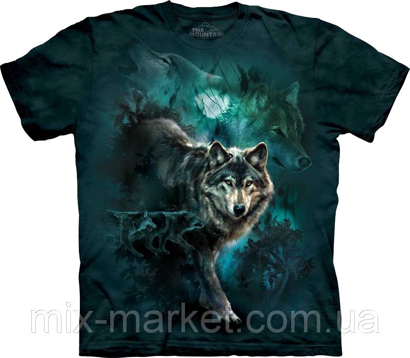 Футболка The Mountain - Night Wolves