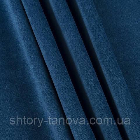 Велюр тёмный сине-бирюзовый