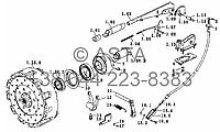 Вал відбору потужності привода зчеплення на YTO-X754, фото 1