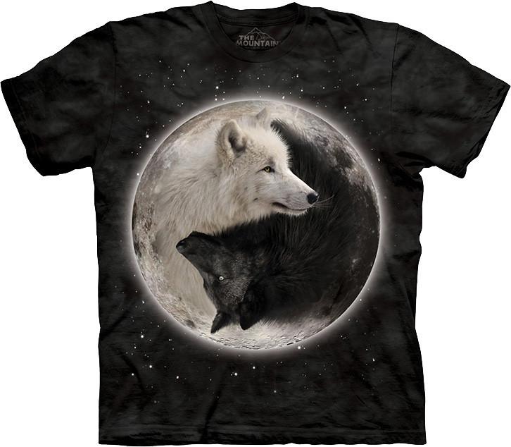 3D футболка The Mountain -  Yin Yang Wolves
