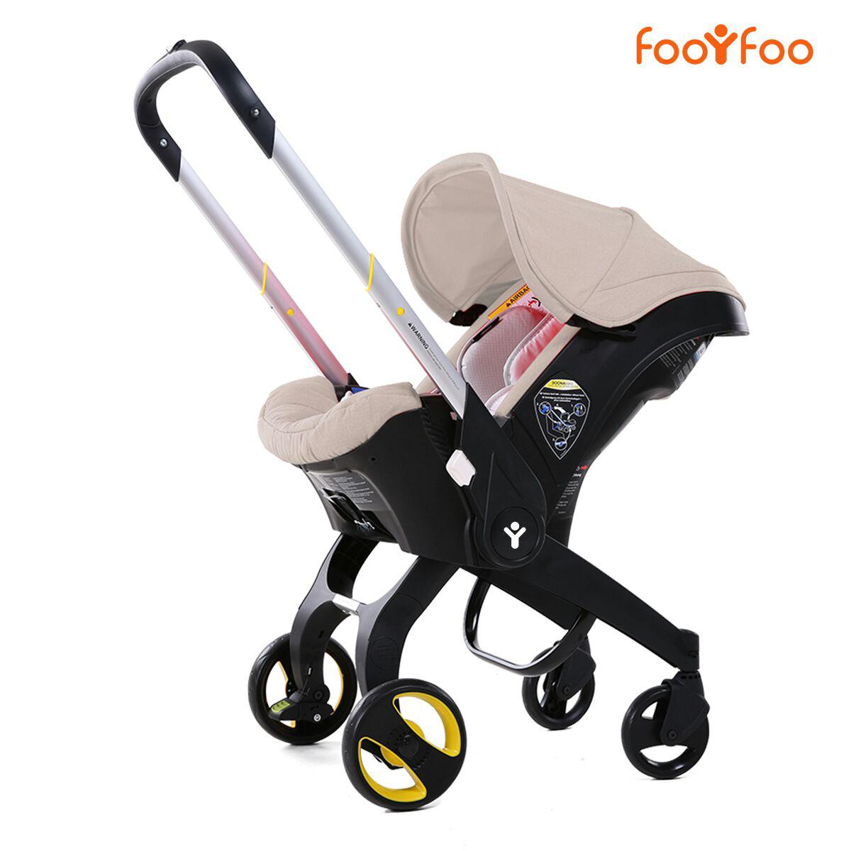 Детская коляска-автокресло FooFoo Бежевая