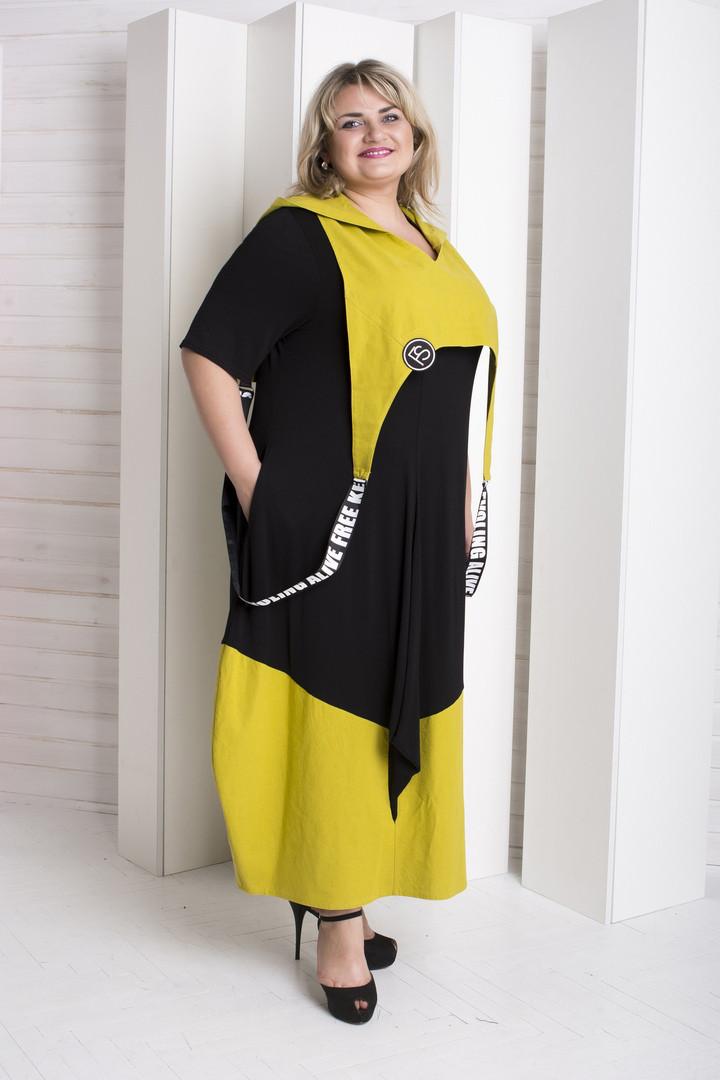 08df2282930 Стильное платье для полных женщин Имидж горчица - V Mode