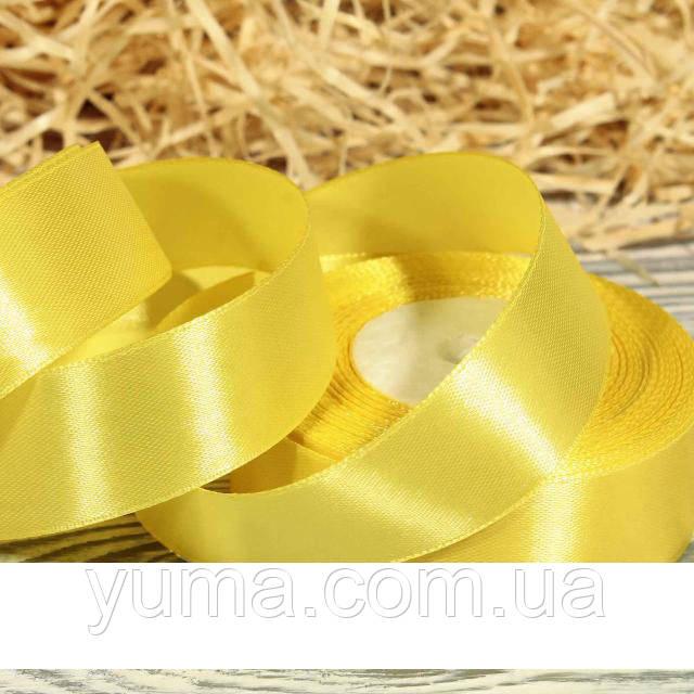 Атласная лента 2,5 см. желтый