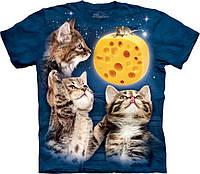 3D футболка The Mountain -  Three Kitten Cheese Moon