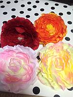 Цветок роза на заколке