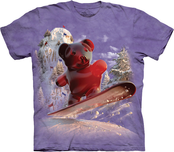 3D футболка The Mountain -  Snowboard Bear