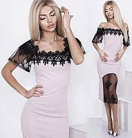Нарядное платье с кружевом