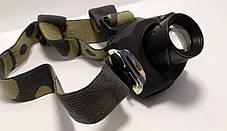 Фонарь на лоб Police 12V 6631-XPE, zoom, налобный фонарь, фото 3
