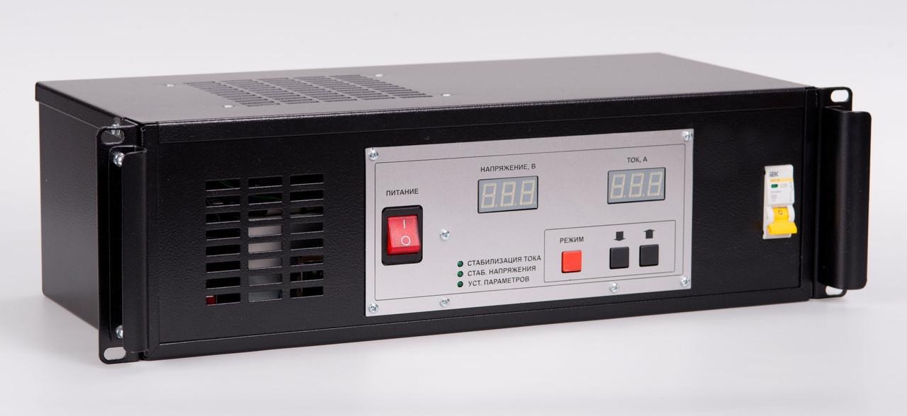 """Зарядное устройство УЗПС 72-15 (24-72В/15А) для гелевых аккумуляторов, в корпусе 19""""3U"""