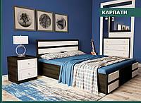 """Кровать деревянная """"Карпати 160х200 """" из натурального дерева двуспальная"""
