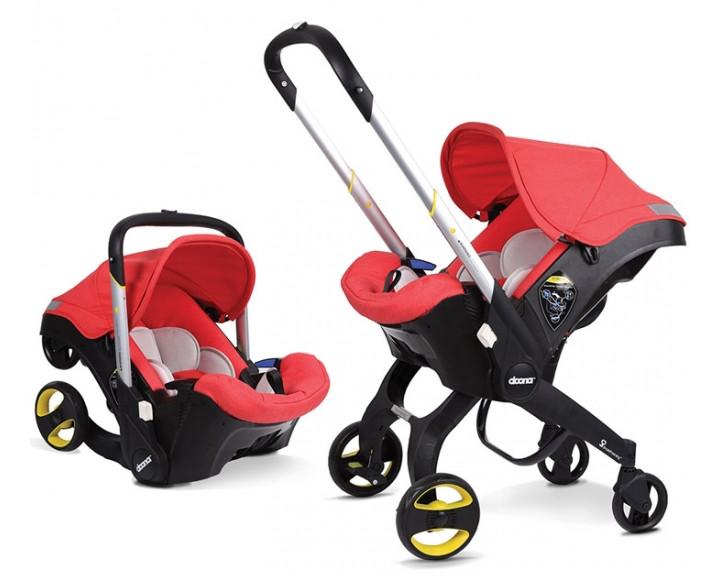 Детская коляска-автокресло FooFoo Красная