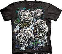 3D футболка The Mountain -  Majestic White Tigers
