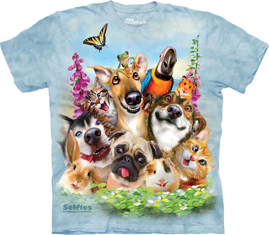 3D футболка The Mountain -  Pet Selfie