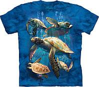 3D футболка The Mountain -  Sea Turtle Family