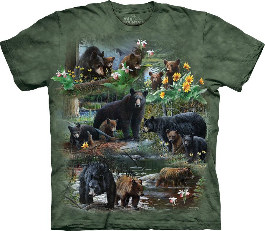 3D футболка The Mountain -  Bear Collage