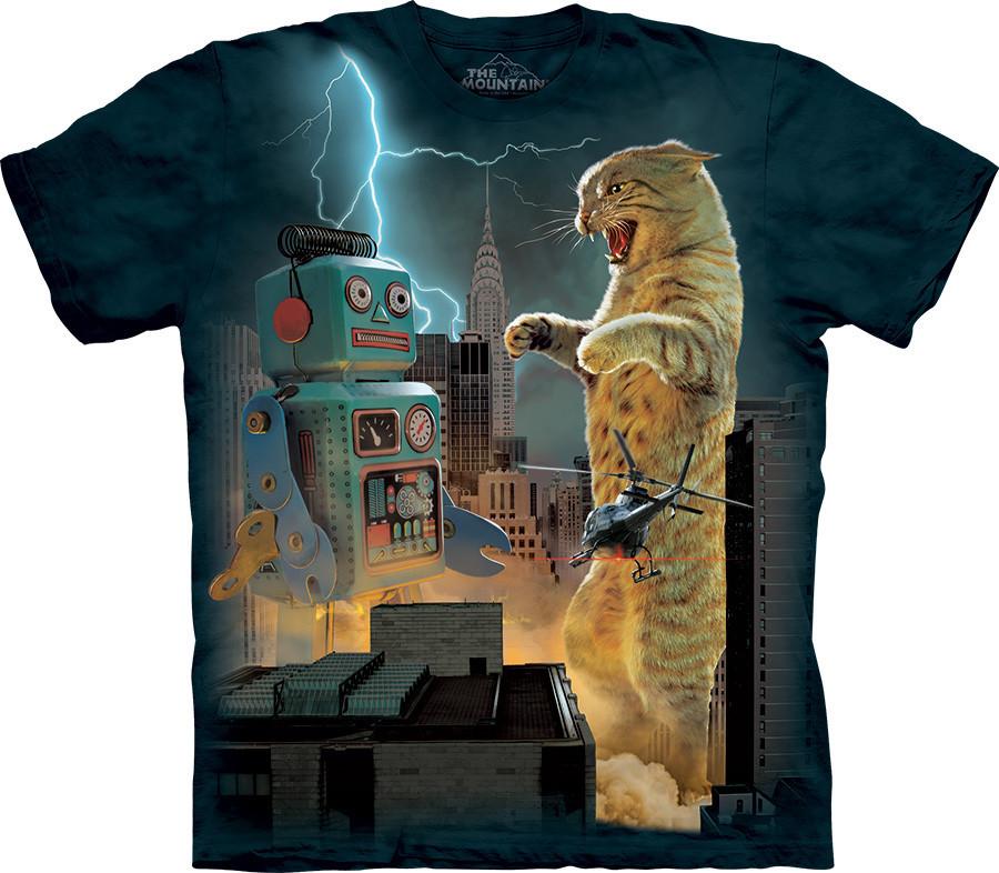 3D футболка The Mountain -  Catzilla vs Robot