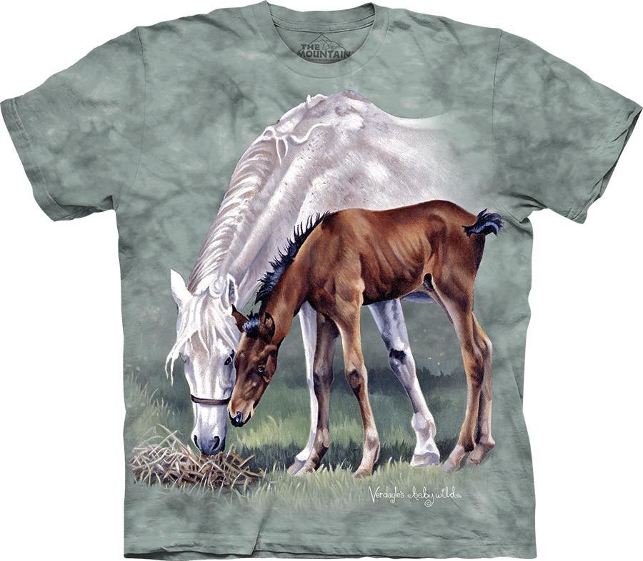 3D футболка The Mountain -  Horses in Springtime