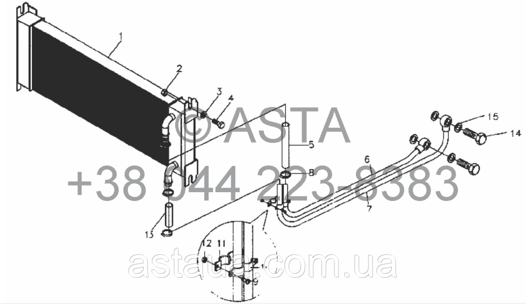 Масляный радиатор II - SZ4108T.460100LV на YTO-X754