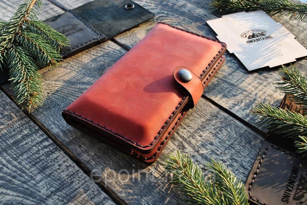 6ac9d0c4b7d1 Женский кошелек, портмоне, бумажник, клатч, красный цвет, ручная работа,  натуральная кожа премиум качества