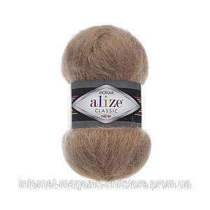 Пряжа Alize Mohair Classic NEW светло-коричневый