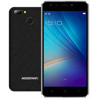 "Смартфон Assistant AS 5436 Grid 1/16Gb Black, 8+0.3/5Мп, 5"" IPS, 2850mAh, 2sim, MT6580, 3G, Чехол, 12 мес."