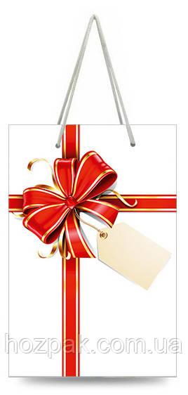 Пакет подарочный бумажный мини 8х13х4