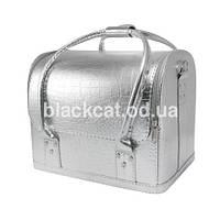 Саквояж для материалов и инструментов металлик серебро, фото 1