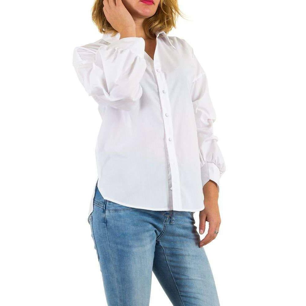 Женская рубашка с драпированными рукавами Mc Lorene (Италия) Белый