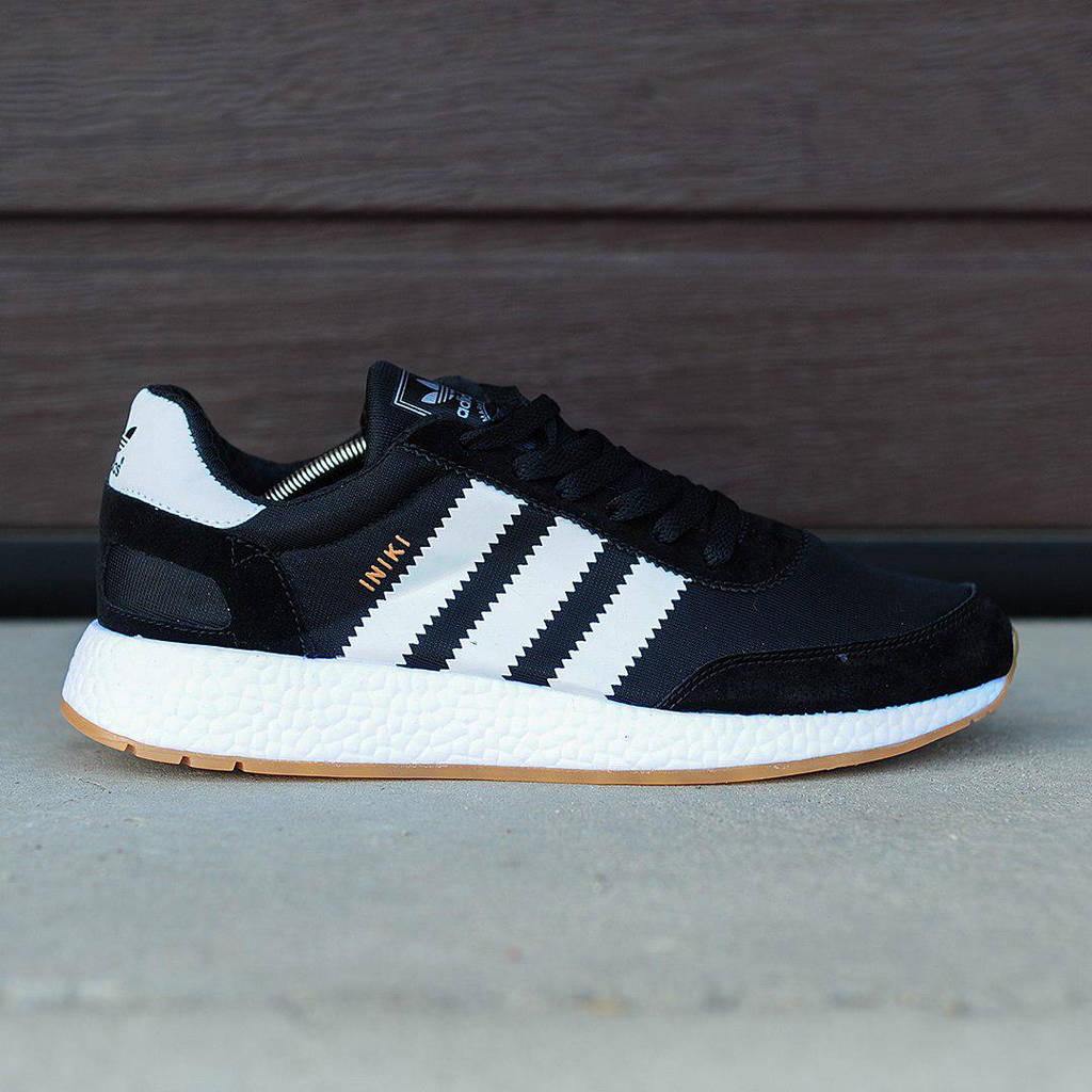 Adidas Iniki Runner Black White (реплика)