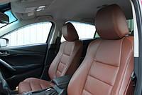Авточехлы Mitsubishi Outlander XL (Мицубиси Аутлендер ХЛ) экокожа +перфорация