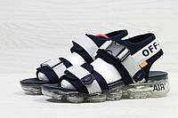 Сандали мужские в стиле Nike Air VaporMax Sandals код товара SD1-5540.  Серые с bb054f5575374