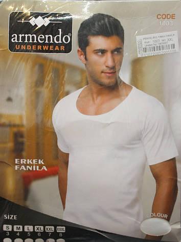 Белая мужская футболка Armendo 1003, фото 2